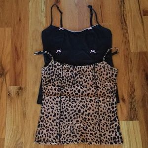 2 Betsey Johnson stretchy camisoles